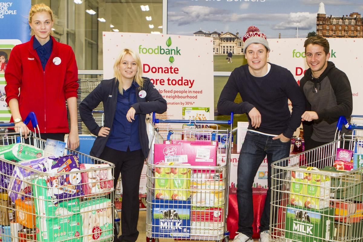 Tesco Trolley Dash For Foodbank Dunfermline Athletic